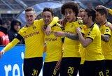 """""""Bundesliga"""" čempionų teks palaukti: pergalę iškovojusi Dortmundo """"Borussia"""" išsaugojo viltis triumfuoti vietiniame čempionate"""