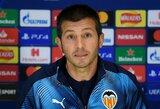 """""""Valencia"""" naujasis strategas A.Celadesas į Čempionų lygos spaudos konferenciją atvyko vienas: žaidėjai paskelbė boikotą"""