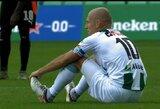 """16 metų lauktas A.Robbeno sugrįžimas į """"Eredivisie"""" baigėsi trauma"""