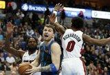 """Arti trigubo dublio buvęs L.Dončičius su """"Mavericks"""" pralaimėjo D.Wade'o vedamai """"Heat"""""""