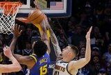 """Ispano blokas nulėmė """"Nuggets"""" pergalę prieš NBA čempionus"""