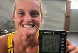 """Australijos irkluotoja namuose netyčia """"sutriuškino"""" pasaulio rekordą"""