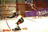E.Augustaitytė sėkmingai įveikė pasaulio jaunimo čempionato slalomo trasą