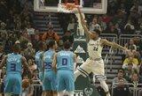 """""""Bucks"""" įsirašė 11 pergalę iš eilės, nutrūko G.Antetokounmpo serija"""