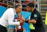 """Irano ekipos treneris C.Queirozas išsakė viską, ką galvoja """"C.Ronaldo privalėjo gauti raudoną kortelę"""""""