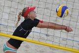 Europos jaunių paplūdimio tinklinio čempionatą lietuviai pradėjo nesėkmėmis