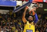 """Eurolygos autsaiderius namuose sutriuškinęs """"Maccabi"""" tęsia kovą dėl vietos stipriausiųjų aštuonete"""