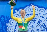 Nešti Lietuvos vėliavą patikėta Europos žaidynių čempionei