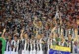 """Italijos taurės finale """"Juventus"""" sutraiškė """"Milan"""" ir laimėjo antrąjį sezono trofėjų"""