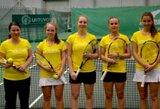 Lietuvos moterų teniso rinktinė pralaimėjo lemiamą mačą