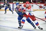 NHL žvaigždės neišgelbėjo: Rusijos ledo ritulio rinktinė pralaimėjo Švedijoje