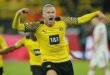"""""""Borussia"""" 91-ąją minutę išplėšė dramatišką pergalę prieš """"Hoffenheim"""" futbolininkus"""