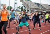 Pora šimtų kauniečių sekmadienį susirinko įveikti sporto iššūkį