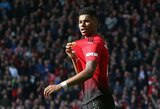 """M.Rashfordas sugrįžo į Čempionų lygos ketvirtfinaliui besiruošiančių """"Manchester United"""" treniruotes"""