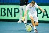 T.Babeliui nepavyko pateikti staigmenos vyrų teniso turnyre Turkijoje