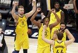 """""""Pacers"""" komandos sudėties būrimo niuansai: talentų paieška, atmosferos svarba ir D.Sabonio atvejis"""