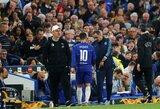 M.Sarri paaiškino, kodėl E.Hazardas pradėjo Europos lygos pusfinalio rungtynes ant atsarginio žaidėjų suolelio