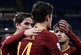 """Italijos taurė: varžovus sutriuškinusi """"Roma"""" lengvai įveikė aštuntfinalio barjerą"""
