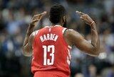 """Denveryje siautėjęs J.Hardenas atvedė """"Rockets"""" į dvyliktą pergalę paeiliui"""
