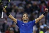 Vieną setą pralaimėjęs R.Nadalis ir R.Federeris – prestižinio turnyro Šanchajuje pusfinalyje
