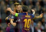 """Čempionų lygoje spindintis L.Messi nusitaikė į dar vieną """"treblą"""""""