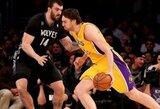 """Be įžaidėjų rungtyniaujantis """"Lakers"""" klubas įveikė Minesotos krepšininkus"""