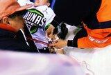 """Skandalas Lietuvos čempionate: greitosios pagalbos ilgai nesulaukęs """"Kaunas Hockey"""" puolėjas šį sezoną greičiausiai nebežais"""