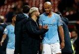 """Pamatykite: S.Aguero po rungtynių su """"Leicester City"""" pripažino, jog sakė V.Kompany nesmūgiuoti"""