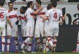 """26-as """"Bundesliga"""" turas užsibaigė """"Stuttgart"""" ir """"Monchengladbach"""" pergalėmis"""