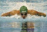 Pirmąją Lietuvos čempionato dieną plaukikai gerino nacionalinius rekordus
