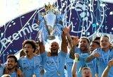 """Įspūdingos lenktynės baigtos: """"Manchester City"""" apgynė Anglijos čempionų vardą, """"Liverpool"""" atsiliko vos vienu tašku"""