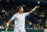 Geriausių pasaulio tenisininkų reitinge R.Berankis išlaikė 72-ą poziciją, L.Grigelis kilo aukštyn