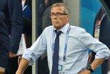 Urugvajaus rinktinės treneris O.Tabarezas: apie nebūtiną kamuolio kontrolę ir pagrindines pergalės prieš Portugaliją priežastis