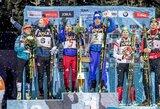 Daugiau nei 45 tūkst. sirgalių akivaizdoje – Rusijos biatlonininkų triumfas ir didelė alaus taurė dovanų