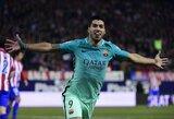 """Pamatykite: L.Suarezas išbandė jėgas prieš kitus """"Barcelona"""" futbolininkus kompiuteriniuose žaidimuose"""