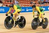 Pasaulio čempionate Berlyne – treko dviratininkų olimpinės atrankos finišo tiesioji
