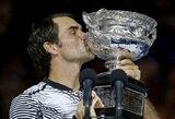 """Kodėl aštuonioliktasis R.Federerio """"Didžiojo kirčio"""" titulas stovės atskirai nuo kitų?"""