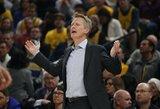 """S.Kerras: """"Mes žaisime be Curry, o varžovų gretose nesitikime išvysti Leonardo"""""""