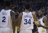 NBA čempionai per kėlinį sutriuškino varžovus