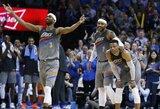 """R.Westbrooko trigubas dublis, C.Brewerio rekordas ir """"Thunder"""" penkta pergalė paeiliui"""