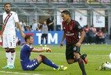 """C.Bacca sezoną pradėjo """"hat-tricku"""", o """"Milan"""" iškovojo filmo scenarijaus vertą pergalę"""
