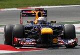 """""""Red Bull"""" lenktynininkai nežino, kodėl sulūžo jų bolidų priekiniai sparnai"""