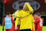 """Nusivylusi """"Borussia"""" žvaigždė E.Haalandas: """"Šūdas, jog """"Bayern"""" iškovojo """"Bundesliga"""" titulą"""""""