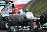 Antrosiose Kinijos GP treniruotėse greičiausiai važiavo M.Schumacheris