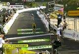 """Favoritai parodė klasę alinančiame """"Tour de France"""" etape, praėjusių metų čempiono viltys dužo"""