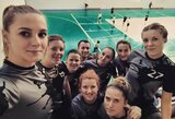 """Lietuvos merginų lėkščiasvydžio komanda """"Drop That Smile"""" trečiąjį kartą startuoja Latvijos lygoje"""