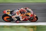 """M.Marquezas šlapioje Vokietijos GP kvalifikacijoje iškovojo """"pole"""" poziciją"""