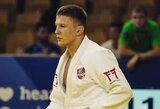 K.Vitkauską prestižiniame dziudo turnyre sustabdė pasaulio jaunimo čempionas