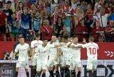 """Permainingoje dvikovoje pergalę pasiekusi """"Sevilla"""" pasivijo pirmąjį Ispanijos penketą"""