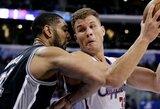 """""""Clippers"""" lyderių nesulaikę San Antonijaus krepšininkai krito Los Andžele"""